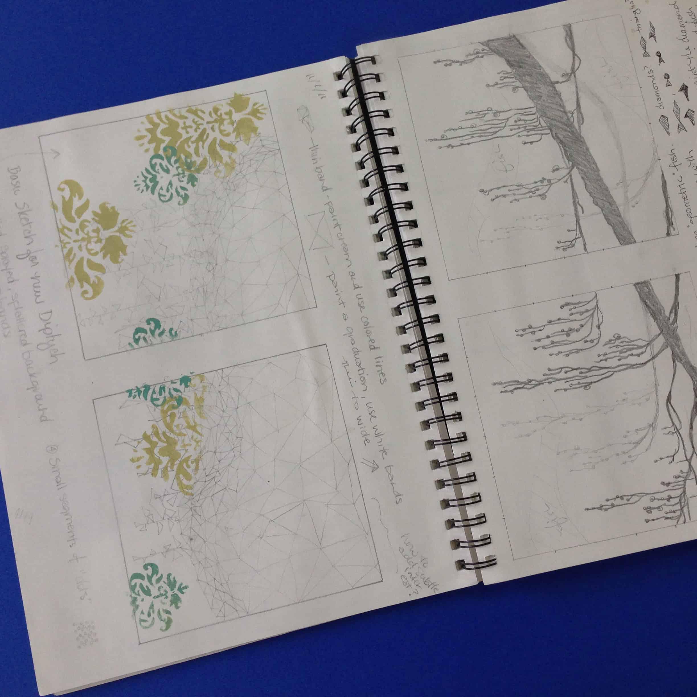 sketchbook inside