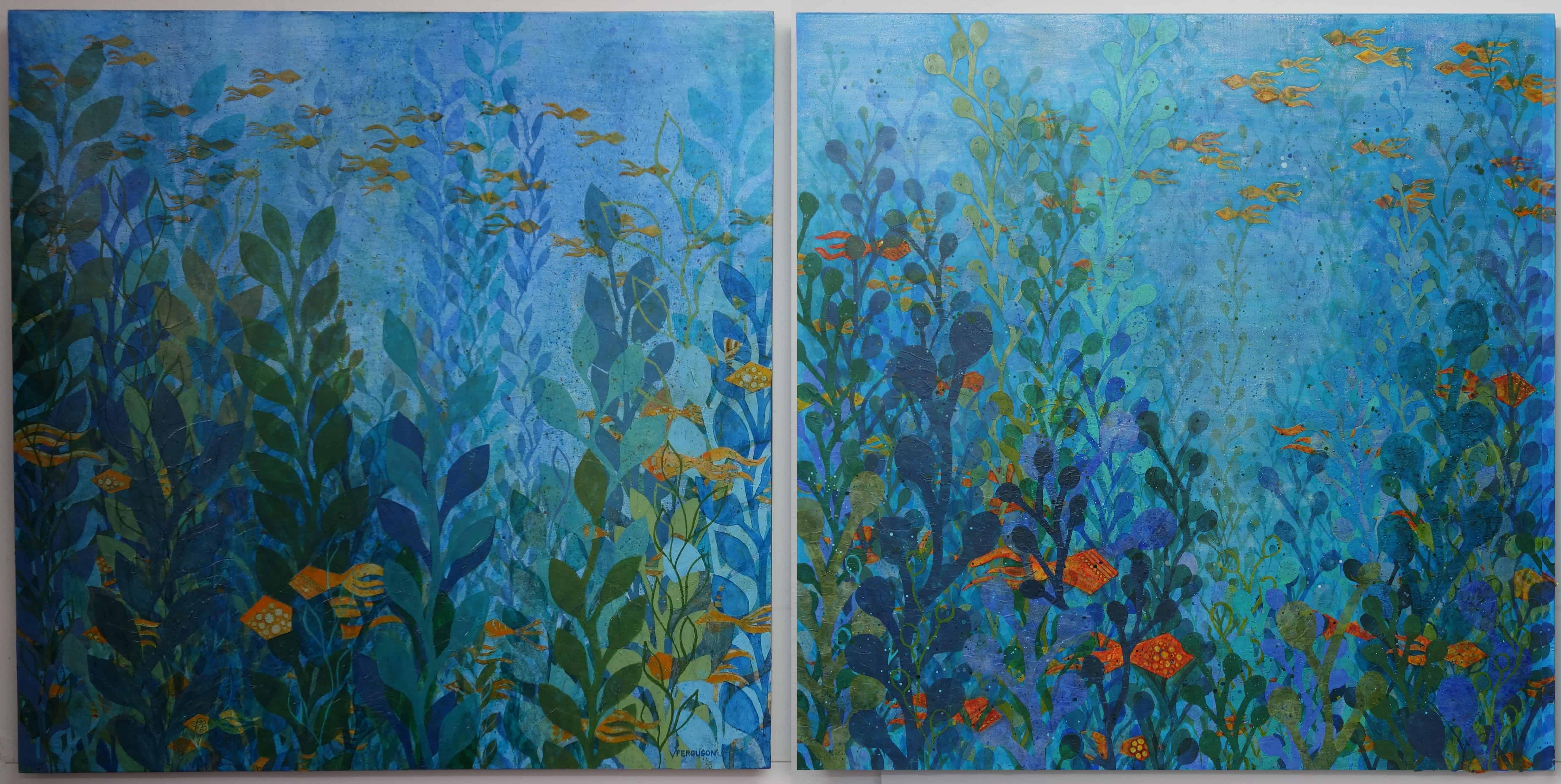 Pair of Hide and Seek paintings