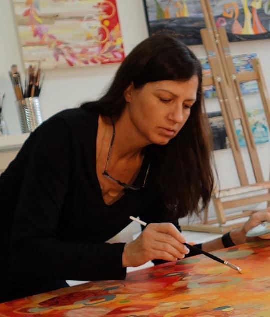 Kathy Ferguson in her studio