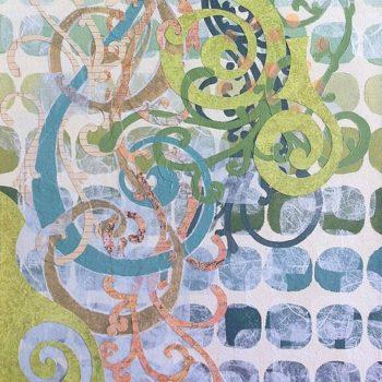 Swirls Around painting