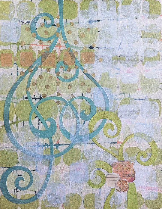Swirl Entwined painting