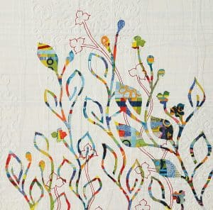 Rainbow Vines with Flowers painting