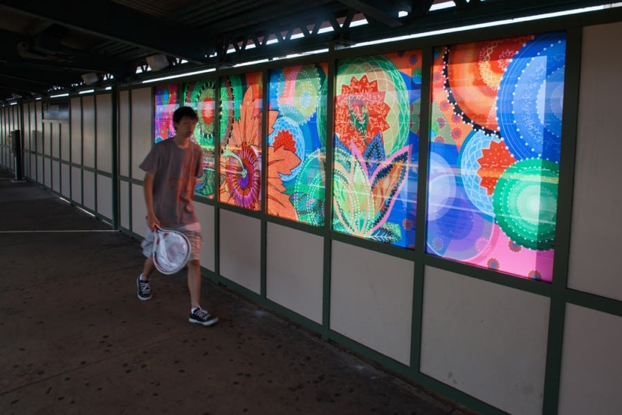 Amy Cheng's artwork in the 25th Street station in Brooklyn