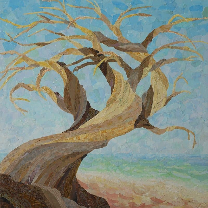 Twisted Cypress painting