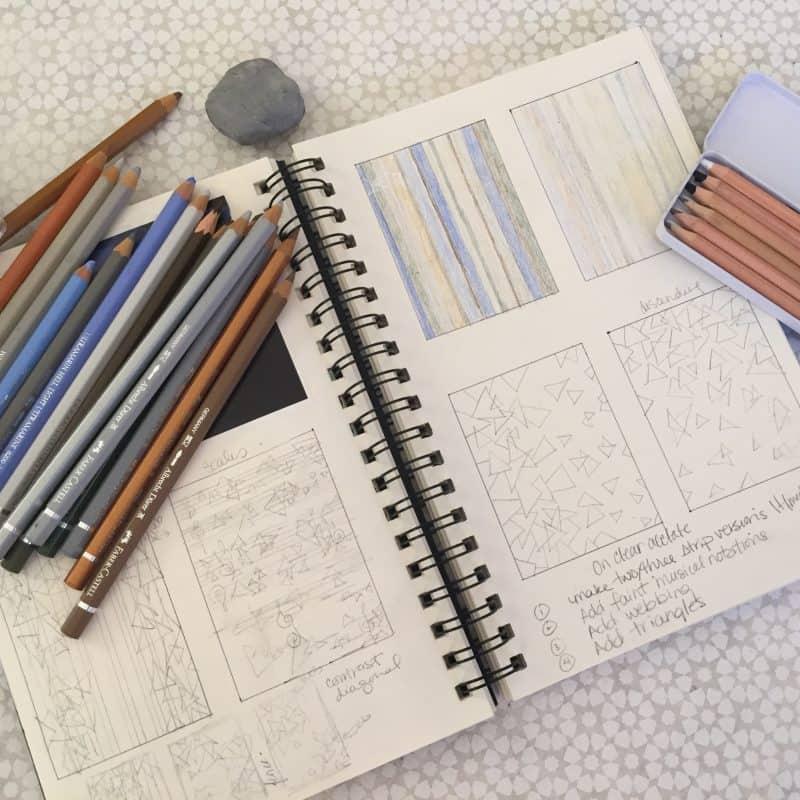 Working in my sketchbook