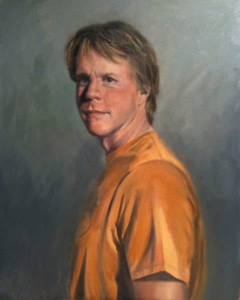 2009 portrait painting of David Ferguson by wife, Kathy Ferguson