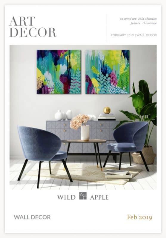 Colorful Kathy Ferguson artwork published art on magazine of Wild Apple Wall Decor