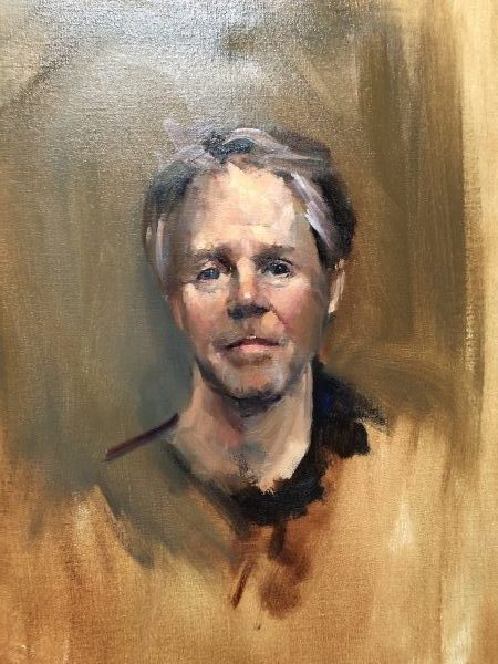 Portrait painting in London by Nick Bashall