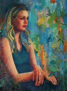 Contemplative oil painting