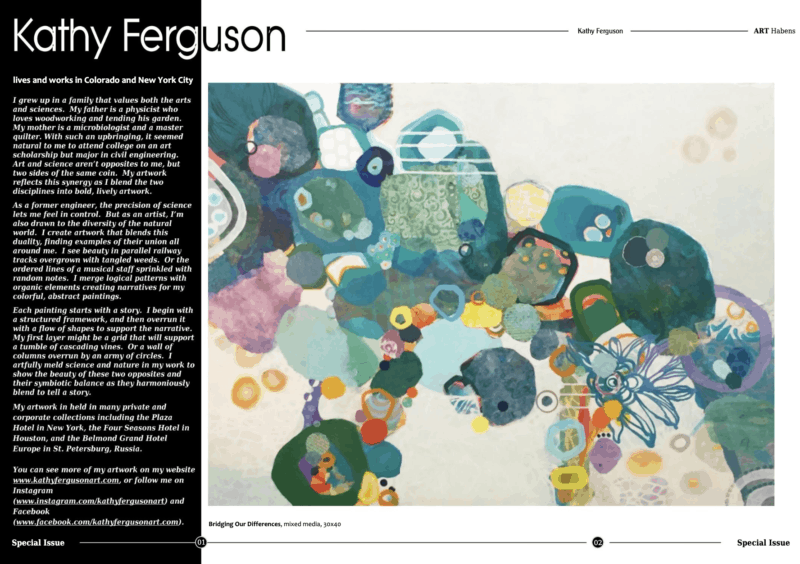 Published Kathy Ferguson article in Art Haben magazine