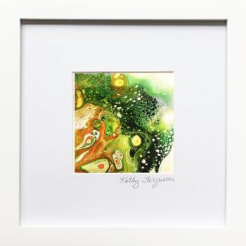 Little Gem 26 poured acrylic painting