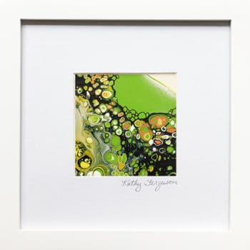 Surging Tide is a bright green abstract acrylic painting