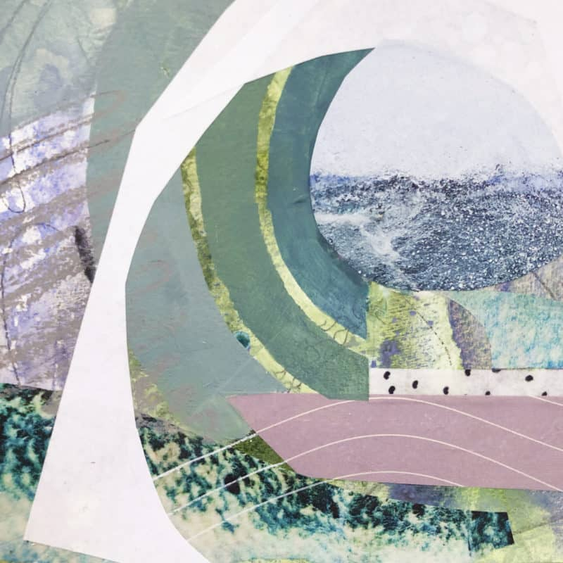 Ocean Tidbit Kathy Ferguson collage mixed media