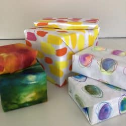 How to make handmade wrapping paper