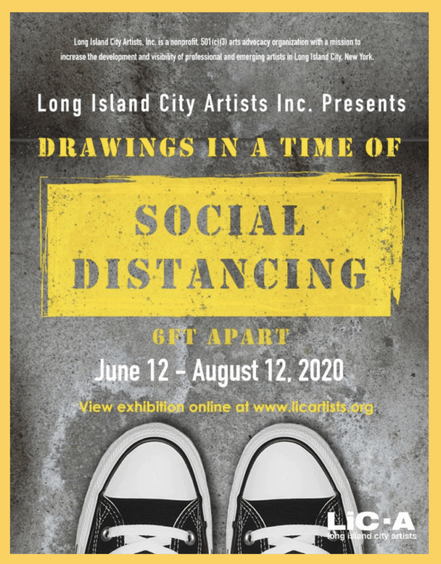 Drawing in a time of social distancing poster