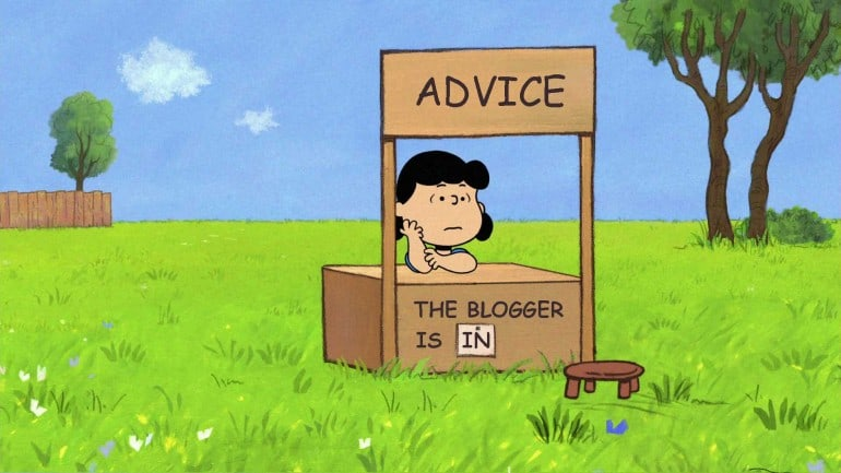 7 tips to get you motivated by Peanuts comic with Lucy selling advice